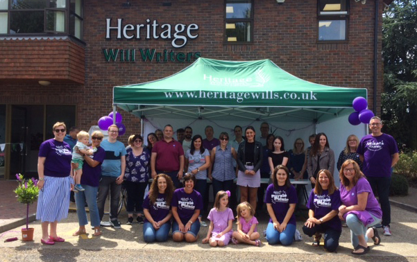 The Heritage Will Writers team hosting a fund raising event at our Hellesdon Norwich office